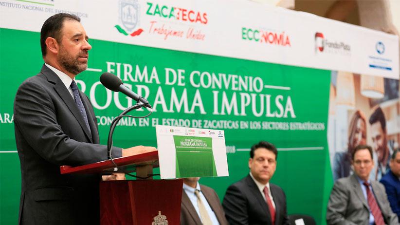 Gobernador firma convenio para financiar con 220 mdp a empresas zacatecanas