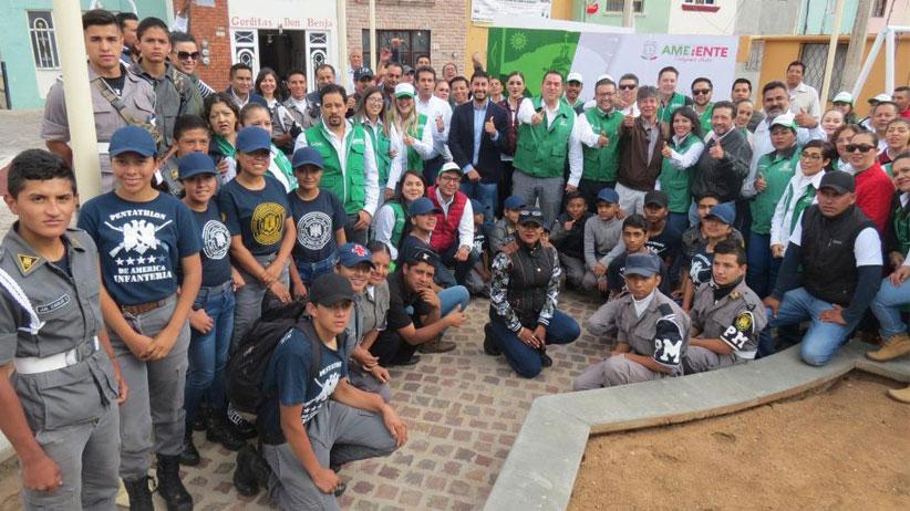 Inicia Gobierno del Estado campaña  yo limpio mi calle en Colonia Tres Cruces