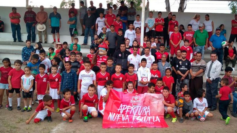 Inauguran Escuela de Fútbol Mineros FC, Sede Trinidad García de la Cadena