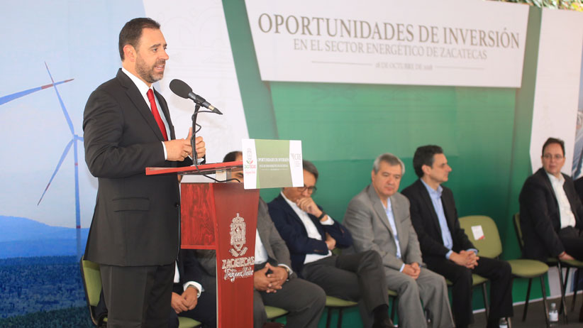 Zacatecas, la mejor opción para inversionistas del sector energético: Tello