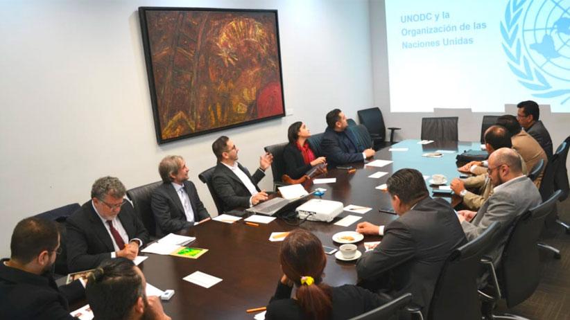 Acuerda grupo de coordinación local trabajo unido con oficina de Naciones Unidas contra droga y delito en México