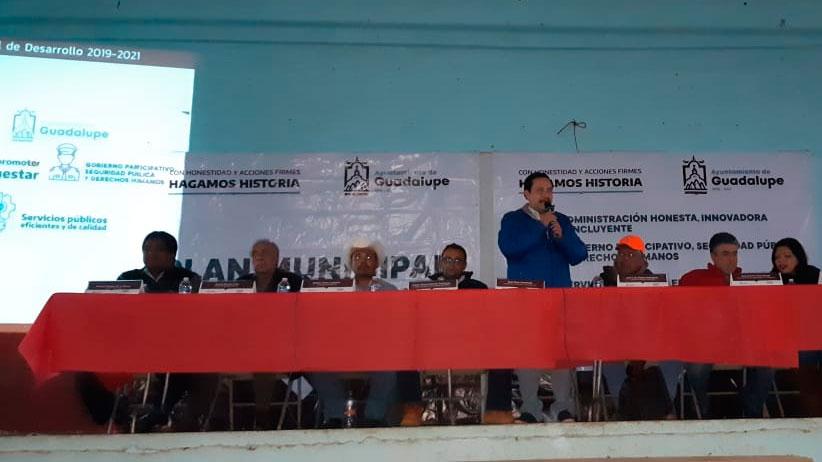 Casa Blanca fue sede del quinto foro de consulta rumbo a la elaboración del plan municipal de desarrollo de Guadalupe