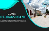 Mazapil cumple al 100% en transparencia