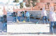 Ayuntamiento de Mazapil emprende labores de limpieza