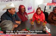 Atiende J. Guadalupe Trejo Quiroz a adultos mayores de Melchor Ocampo