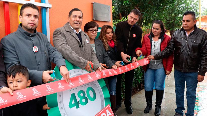 Más de Mil Obras para Zacatecas dignifica escuelas en Tlaltenango