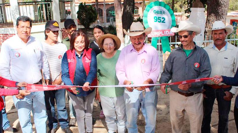 Más de Mil Obras para Zacatecas lleva alcantarillado e infraestructura educativa al Teúl de González Ortega