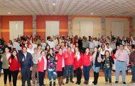 Priistas de once municipios en posada regional celebrada en Paraíso Caxcán