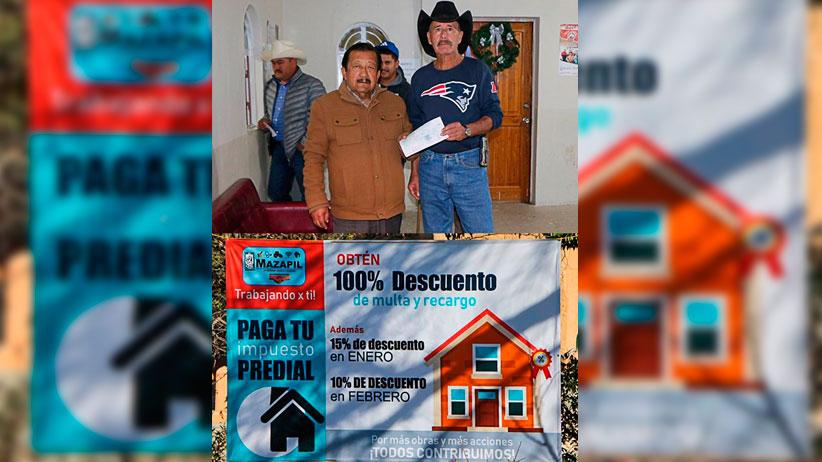 Ayuntamiento de Mazapil Incentiva a pagar el Impuesto Predial