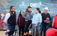 Entregan de Apoyos Invernales en Melchor Ocampo