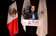 Ma. De la Luz Domínguez Campos rinde su Tercer Informe de Actividades de la CDHEZ