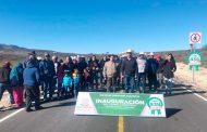 Inauguran tramo carretero en Melchor Ocampo