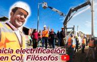 Video: Ulises Mejía inicia electrificación en la colonia Filósofos
