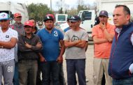 Presidente de Guadalupe atiende necesidades de Empleados de Limpia Pública