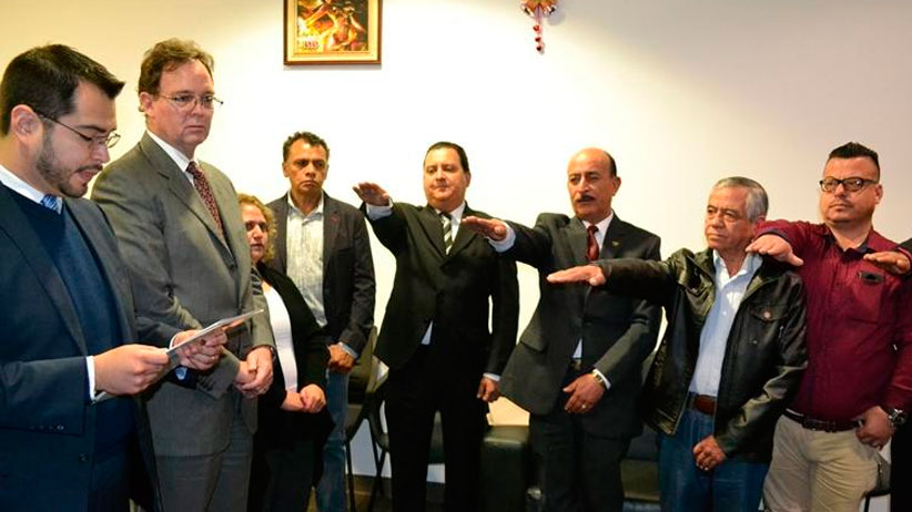 Rinden protesta representantes obrero-patronales ante Junta de Conciliación y Arbitraje
