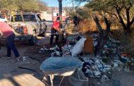 Realizan Bomberos y Protección Civil de Villanueva limpieza de espacios urbanos
