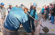 Continúa Gregorio Macías con la entrega de obras en comunidades de Mazapil