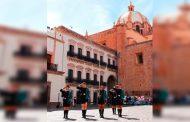 Participan 300 estudiantes del COBAEZ en concurso anual de escoltas y bandas de guerra