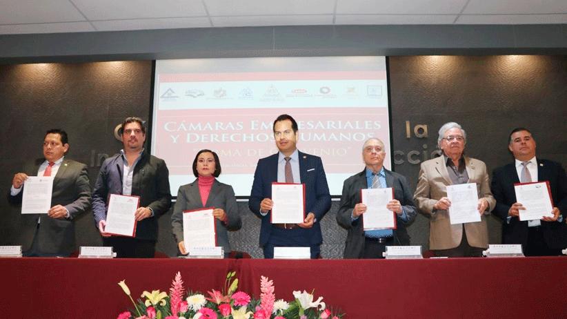 La CDHEZ firma convenio con las Cámaras Empresariales
