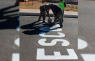 Continúa Gobierno de Zacatecas instalación de señalética en instituciones educativas