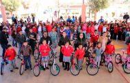 Reciben estudiantes de Vetagrande bicicletas del Programa Ayúdame a Llegar a mi Escuela