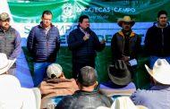 Entrega de apoyos a ganaderos de Villa de Cos