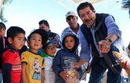 Inauguración de obras en Indios Romualdo y 21 de Marzo