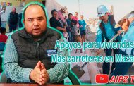 Continúan los apoyos para viviendas y la construcción de carreteras Mazapil