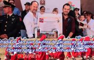 """Video: Cofradía San Juan Bautista de Zacatecas se hermana con la Asociación de Fiestas de Moros y Cristianos """"Santas Justa y Rufina"""" de Orihuela, España"""
