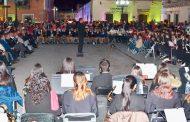 Con ensamble de ocho Bandas Sinfónicas; Celebra Miguel Torres 327 Aniversario de de Villanueva