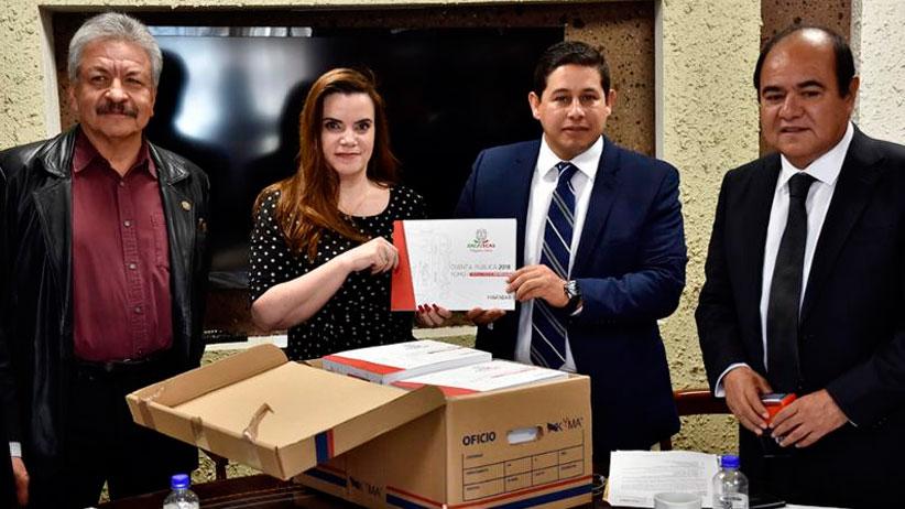 Entrega Gobierno de Zacatecas cuenta pública del ejercicio 2018 al Poder Legislativo Estatal