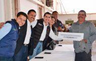 Entrega Gobierno del Estado recursos de empleo temporal en Juan Aldama