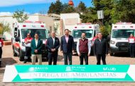 Con la entrega de 26 nuevas ambulancias a Remeza, Gobernador Tello cumple en salud
