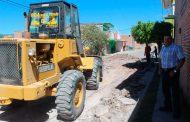 Rehabilitan  calle Revolución en Jalpa