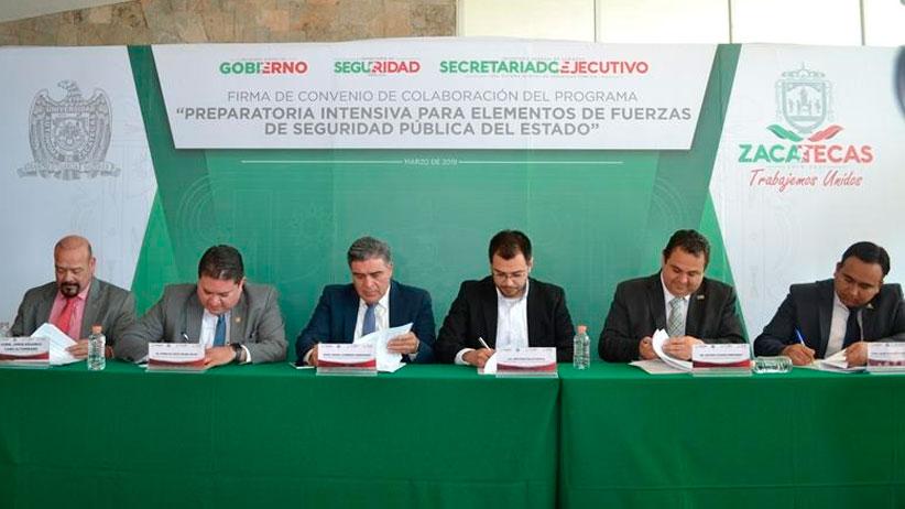 Firman convenio Gobierno Estatal, UAZ y Ayuntamientos para fortalecer formación académica de Policías