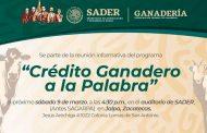 Invita Carlos Carrillo a Conocer el Programa Crédito Ganadero a la Palabra