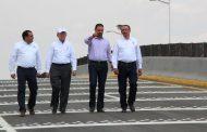 Ponen en servicio Gobernador y Secretario de la SCT entronque carretero noria de gringos