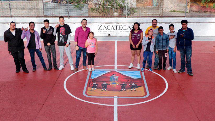 Alcalde Ulises Mejía Haro fortalece rehabilitación de canchas deportivas