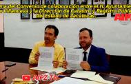 Evento en vivo: Firma del Convenio de colaboración entre el H. Ayuntamiento de Villanueva y la Dirección de Catastro y Registro Público del Estado de Zacatecas