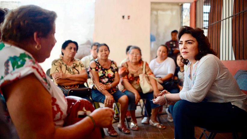 Refrenda Ivonne Ortega su confianza en el INE para la regulación del proceso interno del PRI