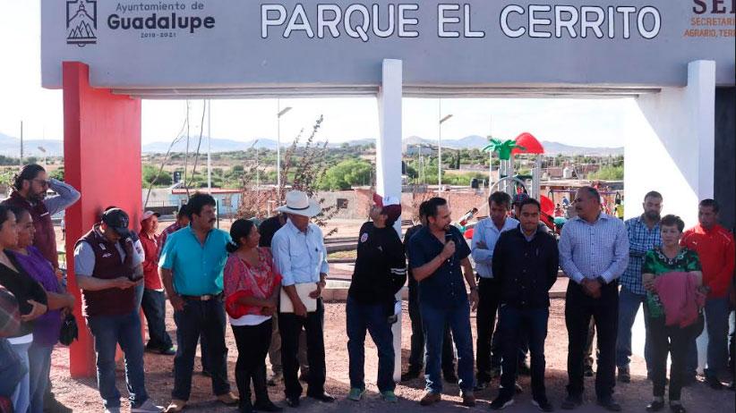 Julio César Chávez entregó parque en la Zacatecana