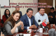 Video: Conferencia de Prensa David Monreal y Verónica Robles Díaz
