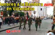 Video: Honores a la  Bandera en Villanueva
