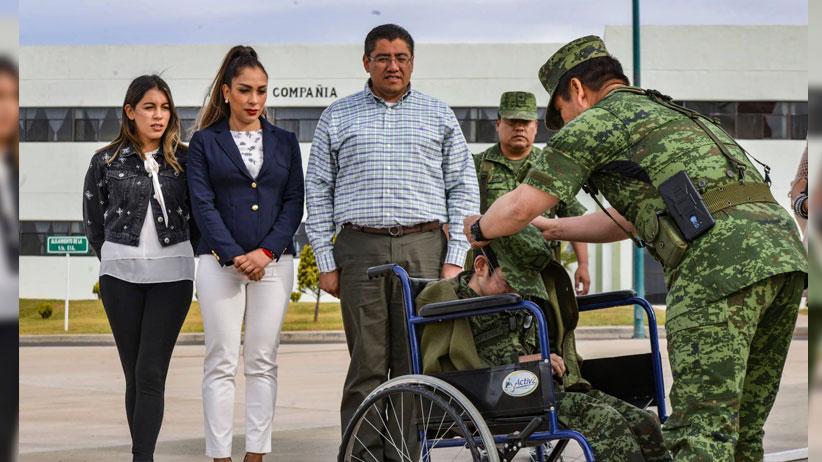 Saúl Monreal testigo de Honor en la Ceremonia Soldado por un día