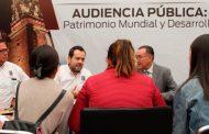 Se une Gobierno del Estado a las audiencias públicas de la Capital por el Patrimonio Mundial