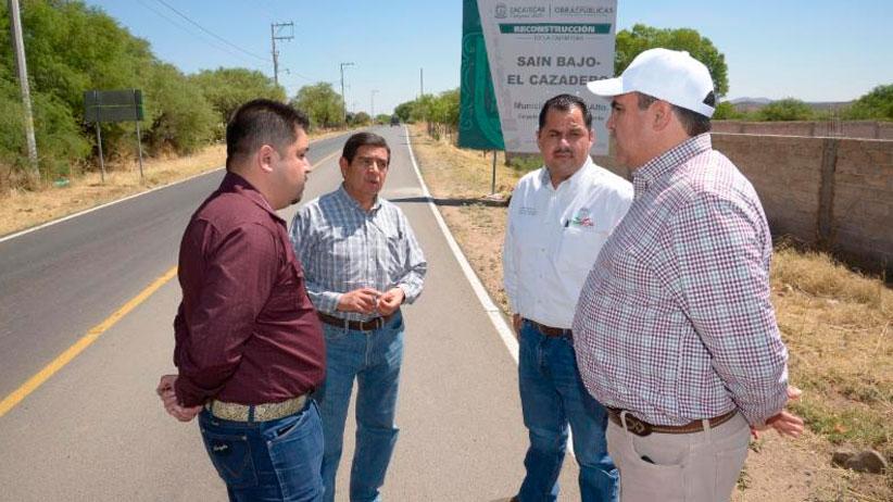 Verifica Gobierno Estatal avance de obras en Sain Alto, Chalchihuites y Sombrerete