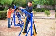 Entrega INJUVENTUD gimnasio al aire libre para adultos, niños y jóvenes de Calera