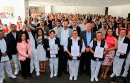 Obtienen recategorización 118 enfermeras y enfermeros de la Secretaría de Salud