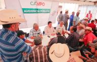 Atiende Secretario Adolfo Bonilla a 400 productores en audiencia pública