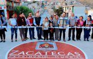 Cumple Alcalde a vecinos de la colonia Lázaro Cárdenas con dignificar la calle Petróleos Mexicanos